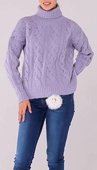 Вязаный свитер под горло Peserico фиолетового цвета, фото