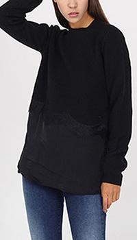 Вязаный джемпер Armani Jeans с шелковым низом, фото