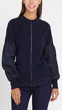 Кофта на молнии Love Moschino с шелковыми рукавами, фото
