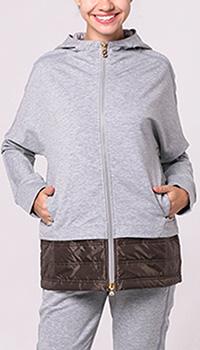 Кофта Bogner серого цвета с капюшоном, фото