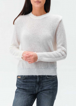 Мохеровый свитер Twin-Set белого цвета, фото