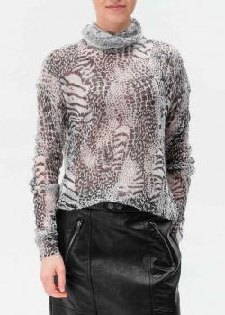 Серый свитер Twin-Set из смеси шерсти и мохера, фото