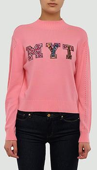 Трикотажный джемпер Twin-Set розового цвета, фото