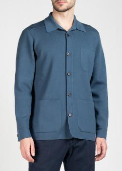 Синий кардиган Brioni с накладными карманами, фото