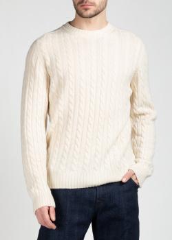 Кашемировый свитер Brioni с вязаным узором, фото