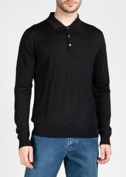 Трикотажный джемпер-поло Brioni черно цвета, фото