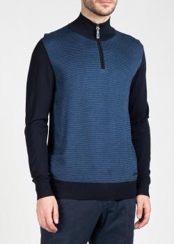 Синий свитер Brioni с геометрическим узором, фото