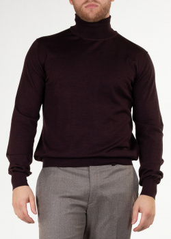 Бордовый гольф Brioni из шерсти, фото