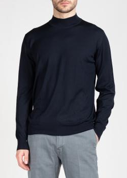 Шерстяной гольф Brioni темно-синего цвета, фото