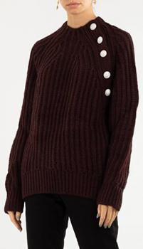 Бордовый свитер Zadig & Voltaire крупной вязки, фото