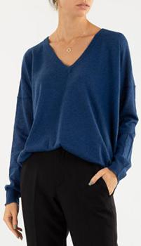 Кашемировый пуловер Zadig & Voltaire синего цвета, фото