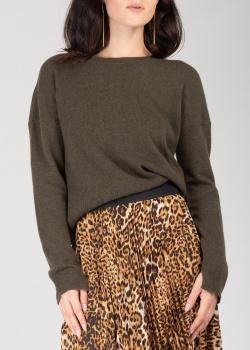 Кашемировый свитер Zadig & Voltaire цвета хаки, фото