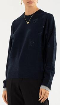 Кашемировый свитер Zadig & Voltaire со стразами, фото