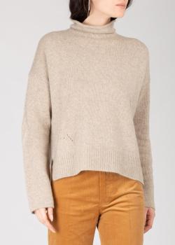 Кашемировый свитер Zadig & Voltaire бежевого цвета, фото