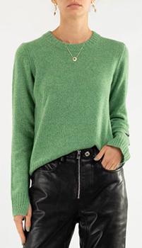 Кашемировый джемпер Zadig & Voltaire зеленого цвета, фото