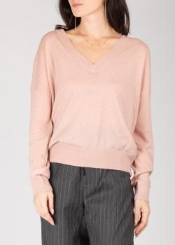 Кашемировый пуловер Zadig & Voltaire розового цвета, фото
