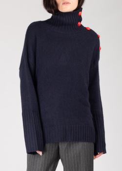 Кашемировый свитер Zadig & Voltaire с пуговицами на воротнике, фото