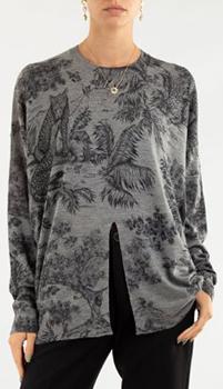 Серый джемпер Zadig & Voltaire с растительным узором, фото