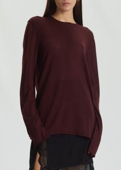 Кашемировый джемпер Zadig & Voltaire бордового цвета, фото