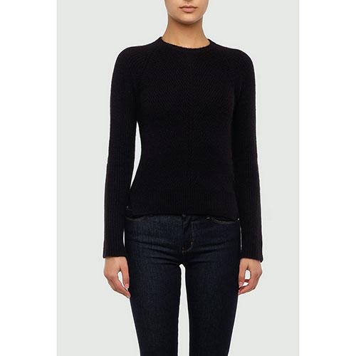 Черный свитер Emporio Armani с разрезами по бокам, фото