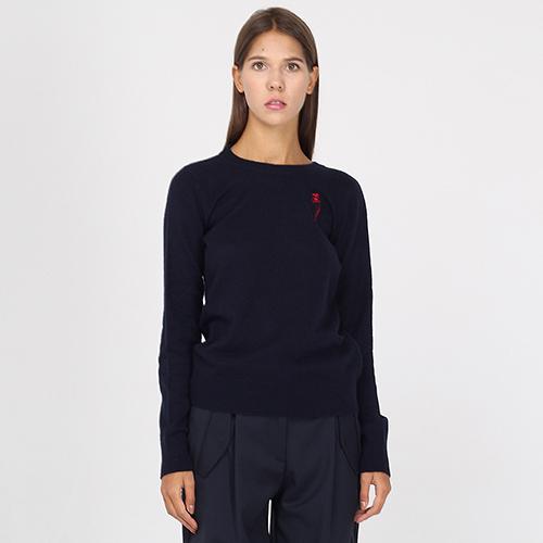 Кашемировый джемпер Emporio Armani с брендовой вышивкой, фото