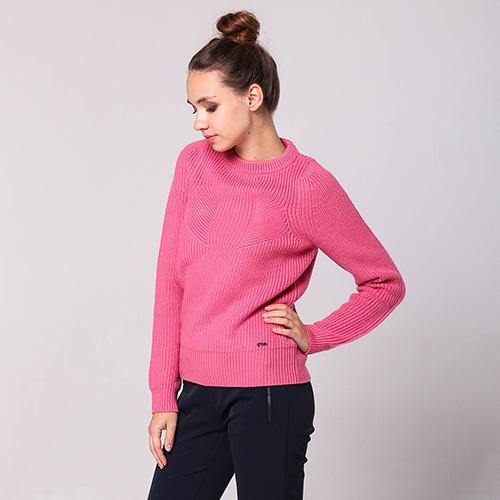 Вязаный свитер Emporio Armani розового цвета, фото