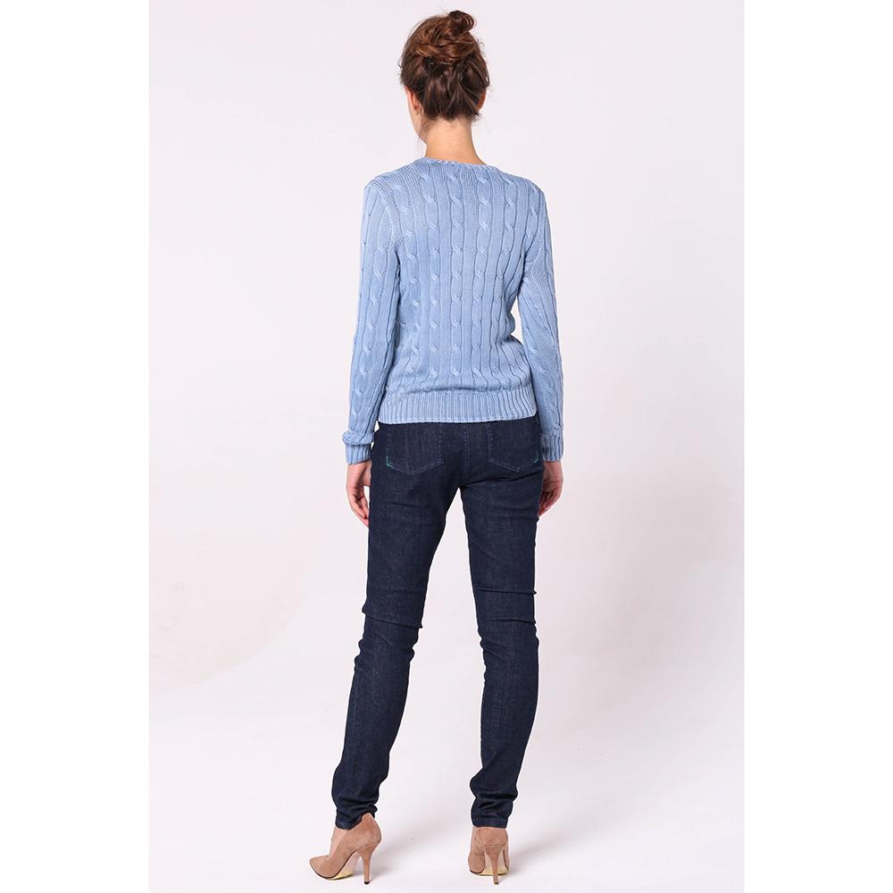 Вязаный джемпер Polo Ralph Lauren голубого цвета