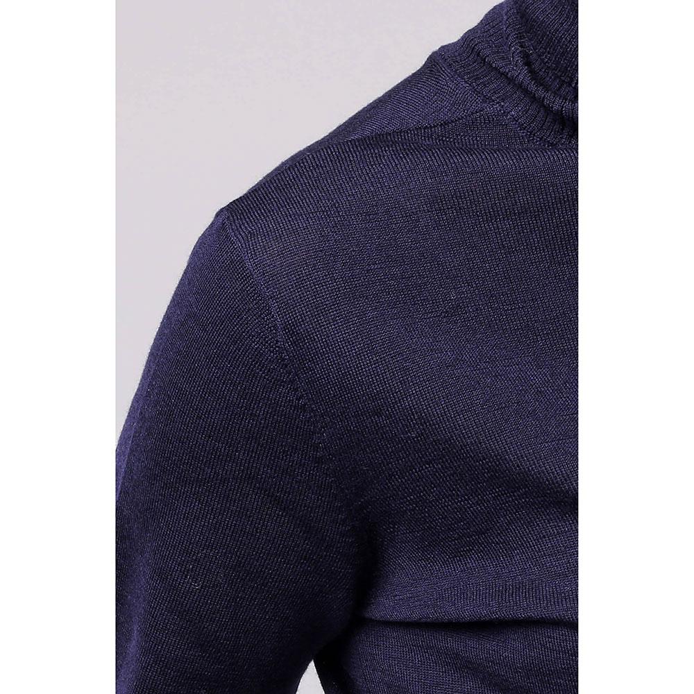 Шерстяной гольф Emporio Armani темно-синего цвета