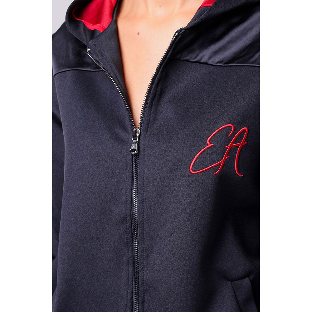 Черная спортивная кофта Emporio Armani с красными элементами