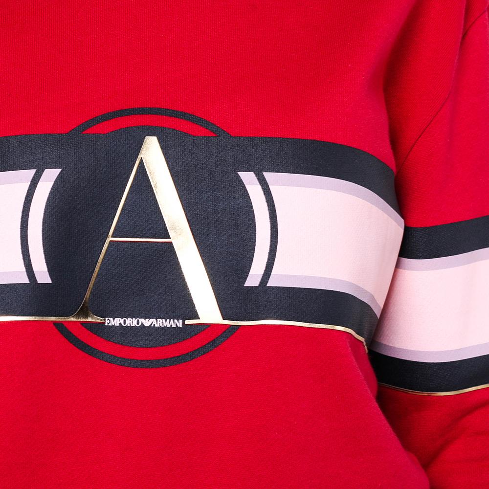 Джемпер Emporio Armani красного цвета с принтом