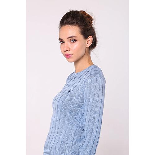 Вязаный джемпер Polo Ralph Lauren голубого цвета, фото