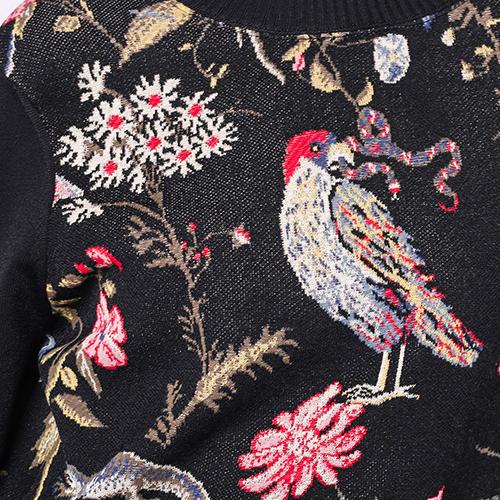Черный свитер Red Valentino с рисунком-птицами, фото