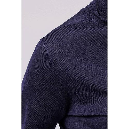 Шерстяной гольф Emporio Armani темно-синего цвета, фото