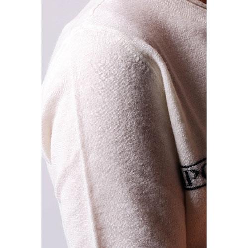 Белый джемпер Emporio Armani с короткими рукавами, фото