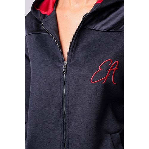 Черная спортивная кофта Emporio Armani с красными элементами, фото