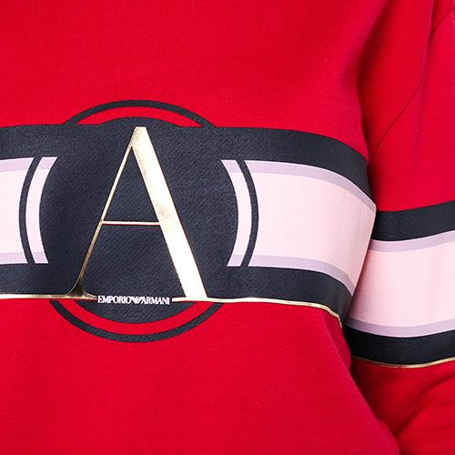 Джемпер Emporio Armani красного цвета с принтом, фото