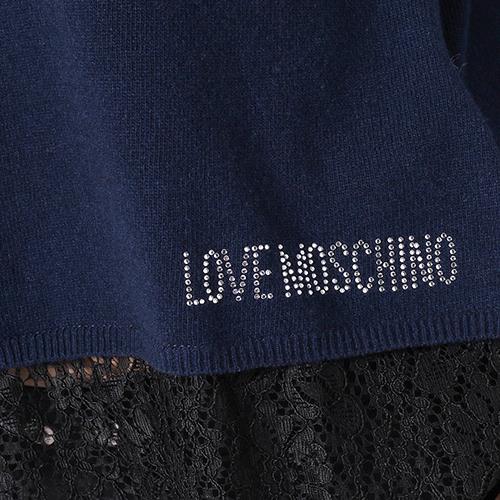 Джемпер Love Moschino синего цвета с кружевом, фото