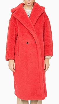 Красная шуба MaxMara из альпаки, фото