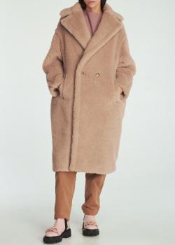 Пальто оверсайз Max Mara Teddy Bear Icon из смесовой альпака, фото