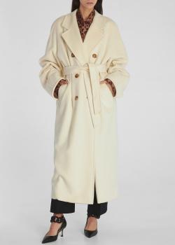 Двубортное пальто Max Mara Icon Madame со съемным поясом, фото