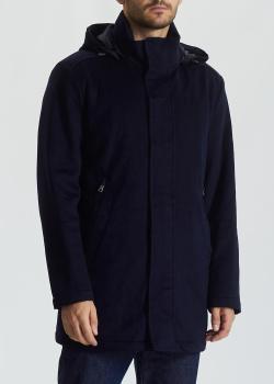 Кашемировое пальто Paul&Shark темно-синего цвета, фото