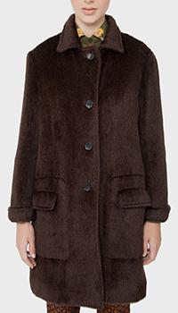 Шерстяное пальто Etro из альпаки коричневого цвета, фото