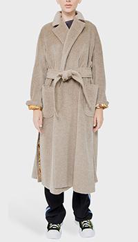 Бежевое пальто Etro с разрезами по бокам, фото