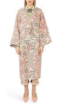 Шелковое пальто Etro с цветочным принтом, фото