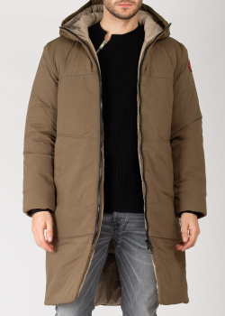Зимнее конопляное пальто Devo Home цвета хаки, фото