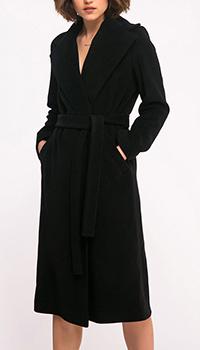 Шерстяное пальто Shako на запах черного цвета, фото