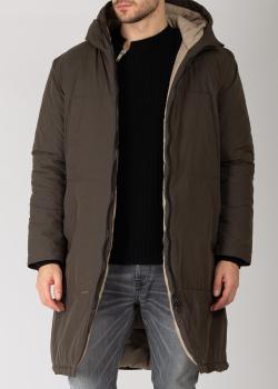 Конопляное зимнее пальто Devo Home оливкового цвета, фото