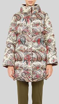 Куртка бежевая Etro с высоким воротником, фото