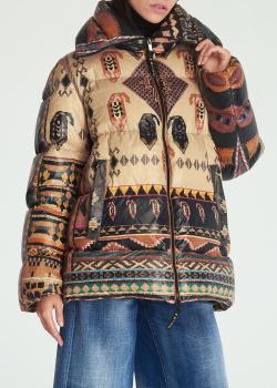 Куртка-пуховик Etro с этническим принтом, фото