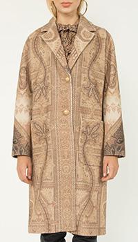 Шерстяное пальто Etro с принтом пейсли, фото